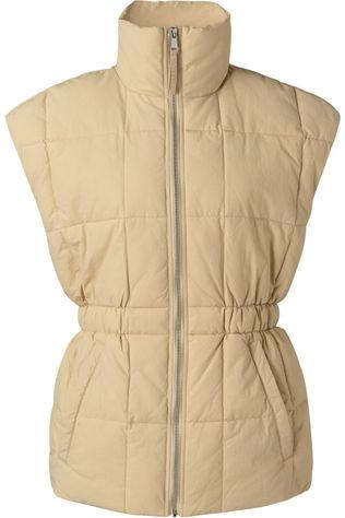 Yaya Bodywarmer With Elasticated Waist Brun Sable