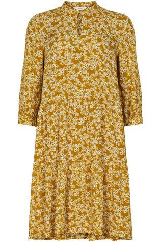 Numph Dress bijou dark yellow/Assortment Flower