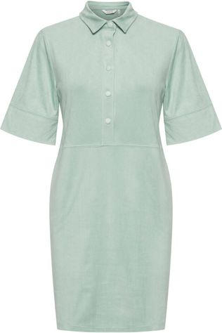 B.Young Robe Byregiza Placket Vert Clair