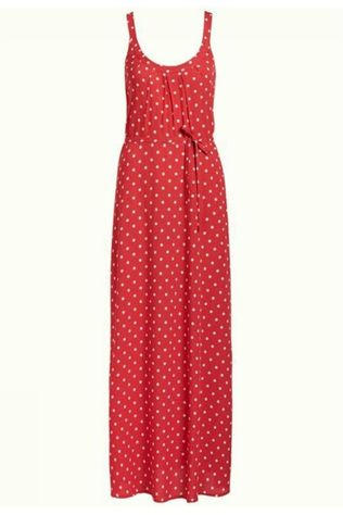 King Louie Dress Allison Maxi Pablo mid red/white
