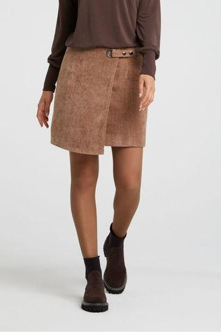 Yaya Rok Structured With Belt And Fishbone Pattern Taupe