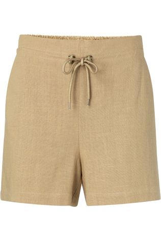 Yaya Short Linen Short With Drawstring Zandbruin