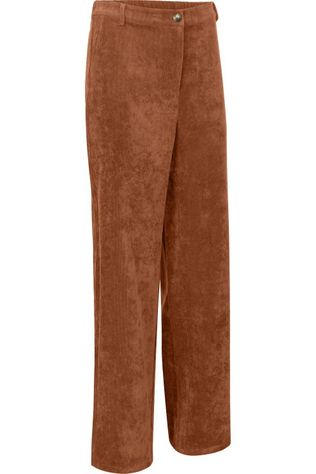 Vila Trousers Vives Corduroy Sand Brown