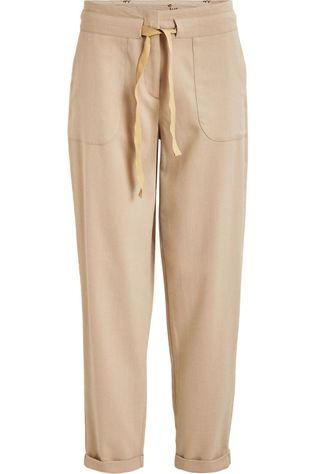 Vila Trousers twiggy 7/8 Pocket Rw C13 Ecru