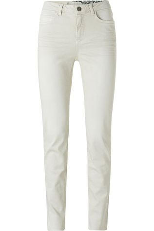 Yaya Jeans High Waist Straight Colored Denim In Cotton Blend Stretch Ecru
