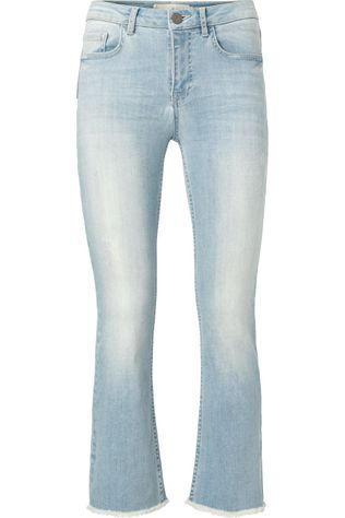 Yaya Jeans Cropped Kick Flared Jeans Lichtblauw (Jeans)