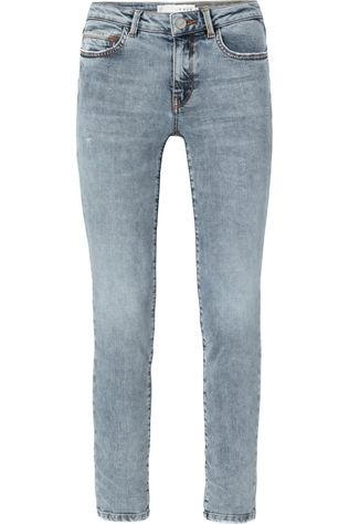 Yaya Jeans Straight Denim Gris Clair