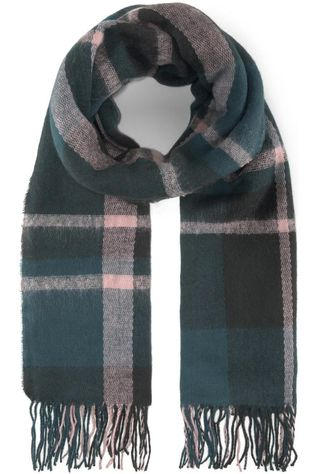 Tom Tailor Scarf Cosy Checked mid green/light pink
