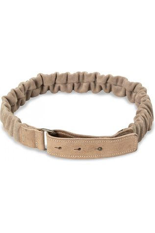 Yaya Riem Suede Belt With Ruffles Zandbruin