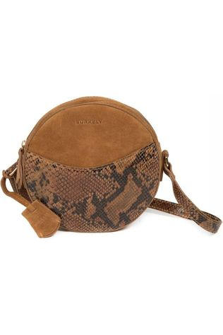 Burkely Bag Round Suede Camel Brown