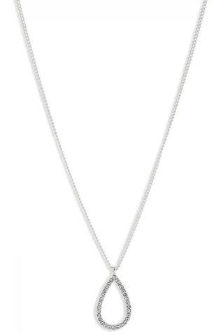 Pilgrim Ketting Delia Silver Plated Crystal Zilver