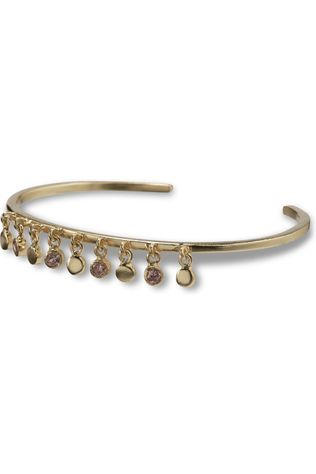 Yaya Armband Cuff Bracelet With Small Stone Charms Goud