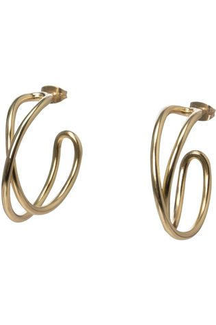 Yaya Oorbel Twisted Hoop Earrings Goud