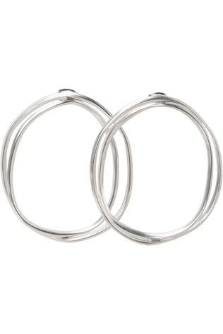 Yaya Oorbel Double Hoop Earrings Zilver