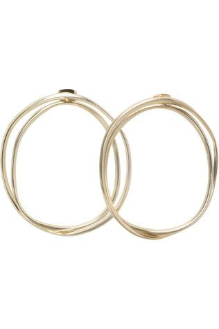 Yaya Oorbel Double Hoop Earrings Goud