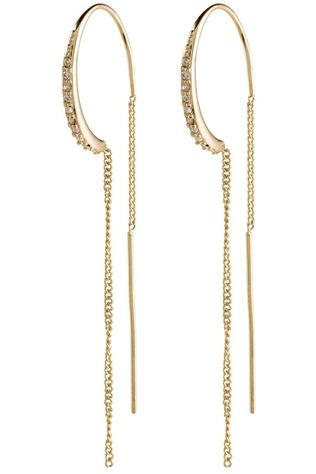 Pilgrim Earring Fire Gold Plated Crystal gold