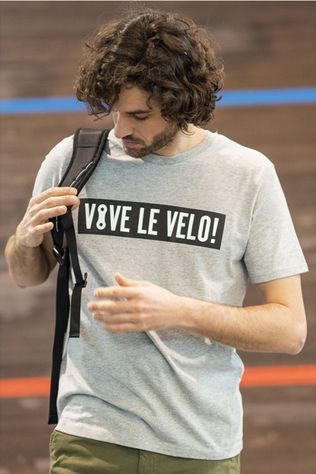 Vive le Velo T-Shirt T-Bigbox Light Grey Mixture
