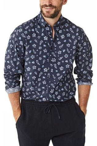 Mc Gregor Shirt Mm111000075 Dark Blue/Ass. Flower