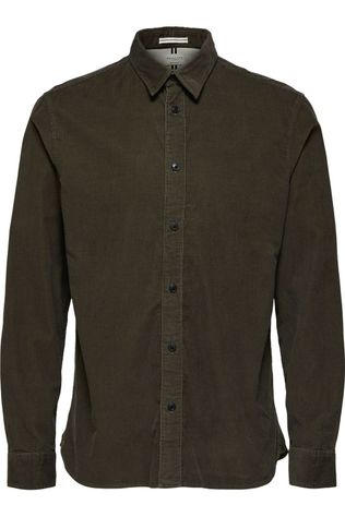 Selected Shirt Slhreghenley-Cord dark green