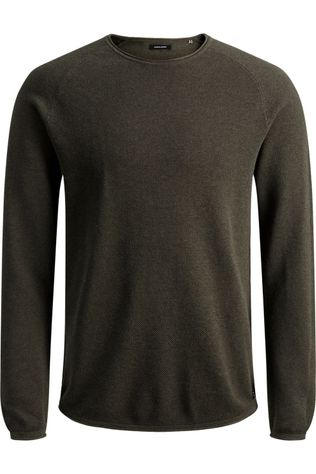 Jack & Jones Pullover Jjehill Knit Cn Ns dark khaki