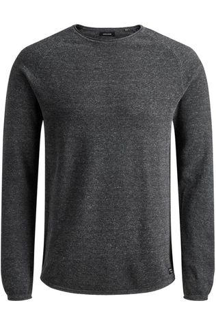 Jack & Jones Pullover Jjehill Knit Cn Ns Dark Grey/Marle