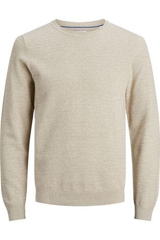 Jack & Jones Pullover Jjfinn Knit Cn Sand Brown