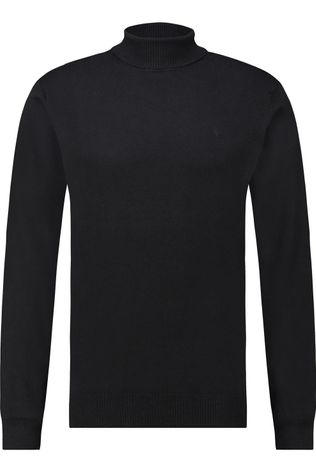 Haze & Finn Trui roll neck Zwart