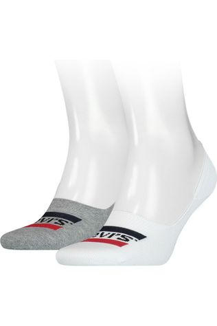 Levi's Sock Low Rise Sprtswr Logo 2 pairs white/mid grey
