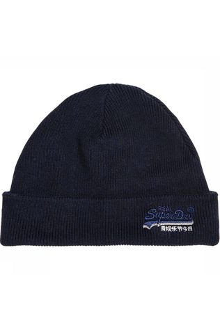 Superdry Muts Orange Label Beanie Donkerblauw