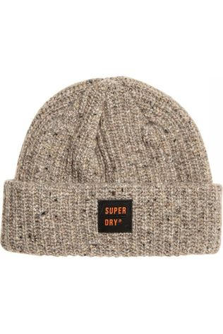 Superdry Muts Surplus Tweed Beanie Gebroken Wit