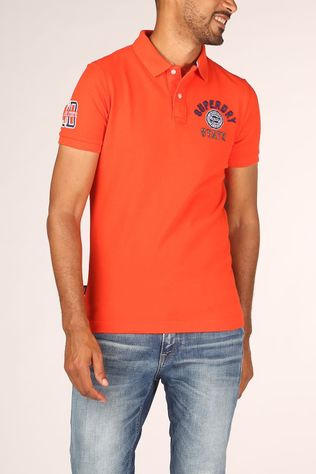 Superdry Polo Classicerstate S/S Polo Lichtrood