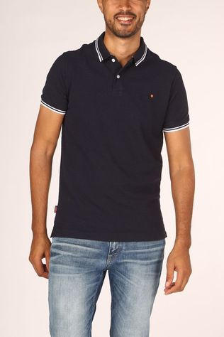 Superdry Polo Classic Poolside Pique Polo Donkerblauw