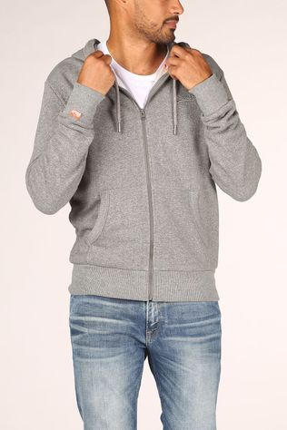 Superdry Cardigan Ol Classic Zip Hood Light Grey Mixture
