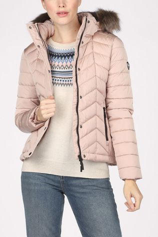 Superdry Manteau Luxe Fuji Padded Rose Clair