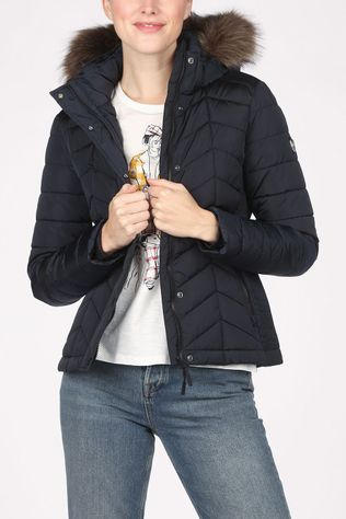 Superdry Coat Luxe Fuji Padded Navy Blue
