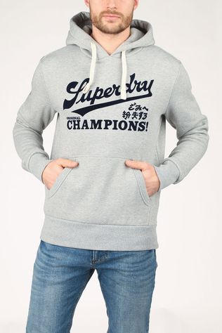 Superdry Pull Collegiate Graphic Overhead Gris Clair Mélange