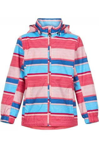 Color Kids Coat Elisabeth Aop Turquoise/Light Pink