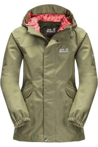 Jack Wolfskin Coat Rock Town Girls mid khaki
