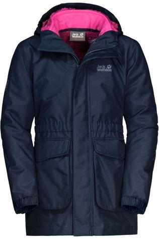 Jack Wolfskin Coat Ice Cave dark blue/Fuchsia