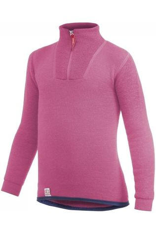 Woolpower Ondergoed Zip Turtle Neck 200 Middenroze