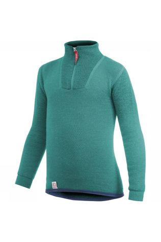 Woolpower Ondergoed Zip Turtle Neck 200 Groen