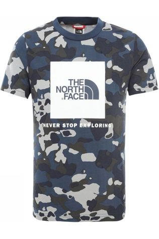 The North Face T-Shirt Box S/S blue/Assortment Camouflage