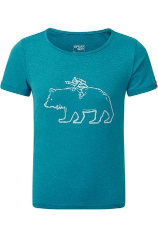 Sprayway T-Shirt Bertie Bear Turquoise