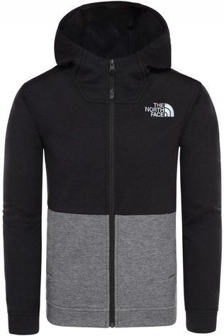 The North Face Pullover Slacker Full Zip Hoodie Light Grey Marle/Black