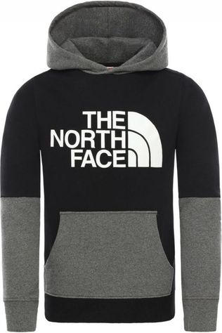 The North Face Trui Youth Drew Peak Light Block Plv Zwart/Donkergrijs Mengeling