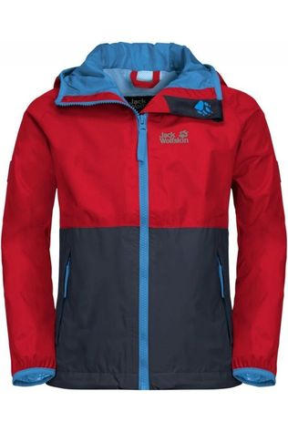 Jack Wolfskin Coat Rainy dark blue/red