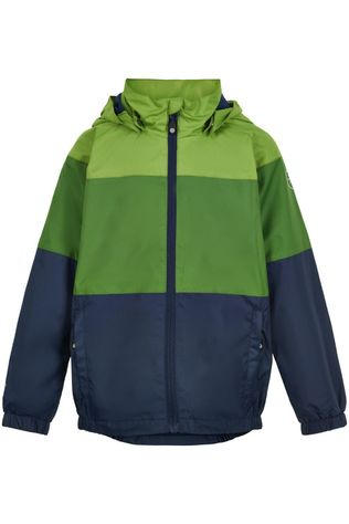 Color Kids Manteau Color Block, Af 8.000 Vert/Bleu Foncé