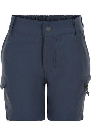 Color Kids Shorts Outdoor W. Side Pockets Bleu Foncé