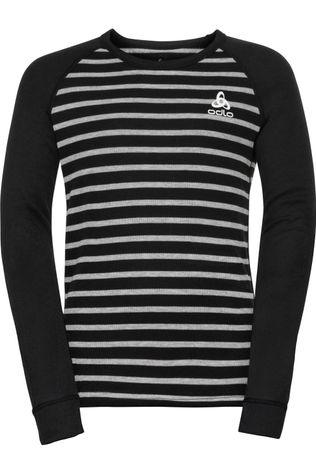 Odlo Underwear Active Warm Eco Kids Bi Top Crew Neck L/S black/mid grey