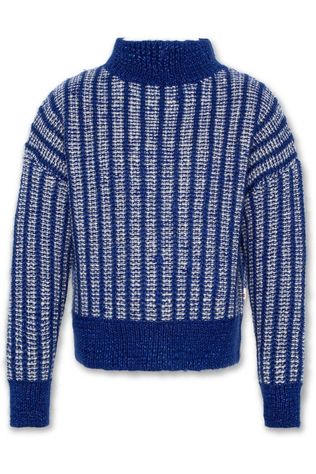 AO76 Pullover C-Neck Drawing Royal Blue/Assorted / Mixed